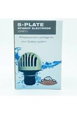 Arctic Spas SpaBoy Electrode Salt Cell Replacement Cartridge Grey 5 Plate