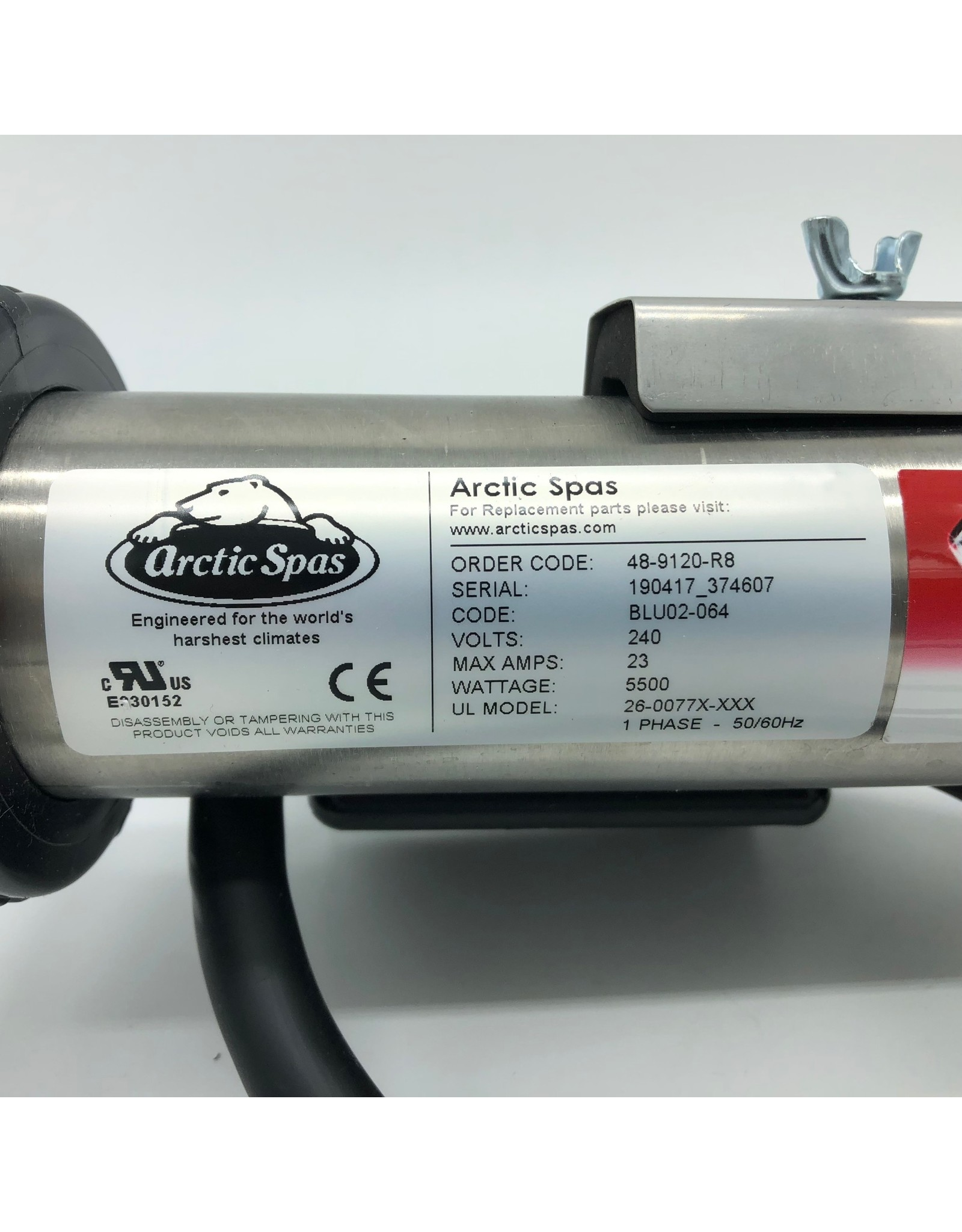 Arctic Spas Heater with Cord 5.5kw Straight