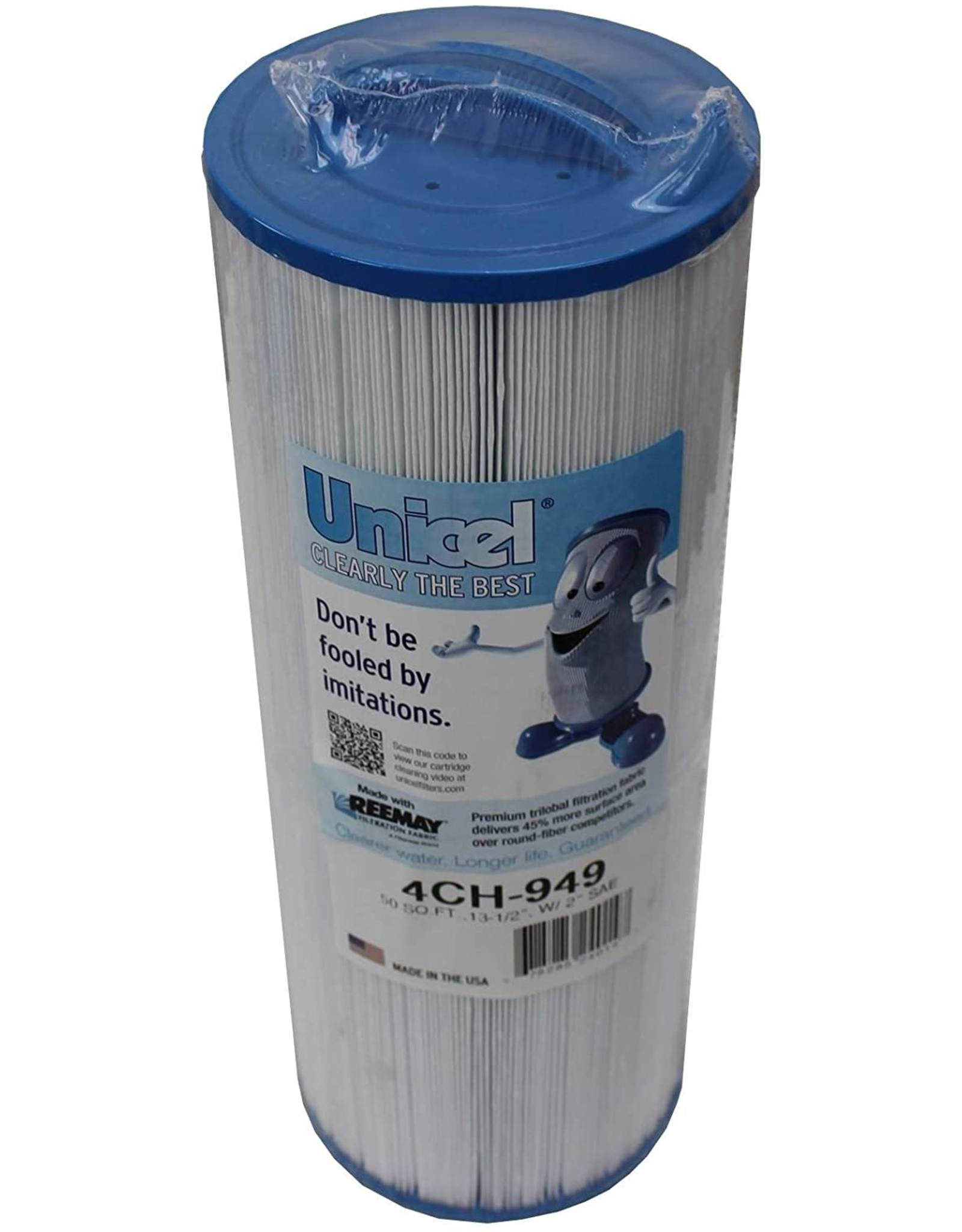 Unicel Filter Threaded Pleated 50 sq ft 4ch-949