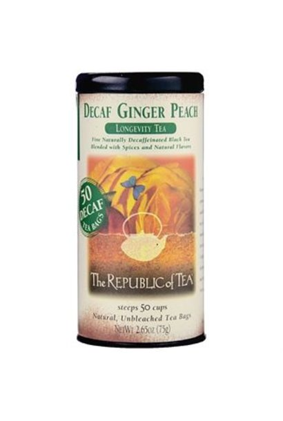DECAF GINGER PEACH TEA