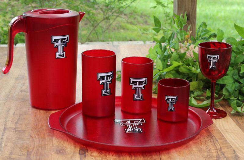 TEXAS TECH  S/8 GLASSES-1