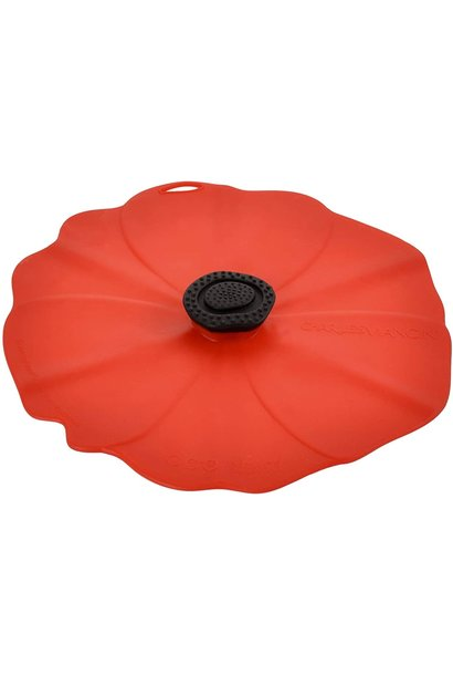 "CV POPPY/RED 8"" LID"