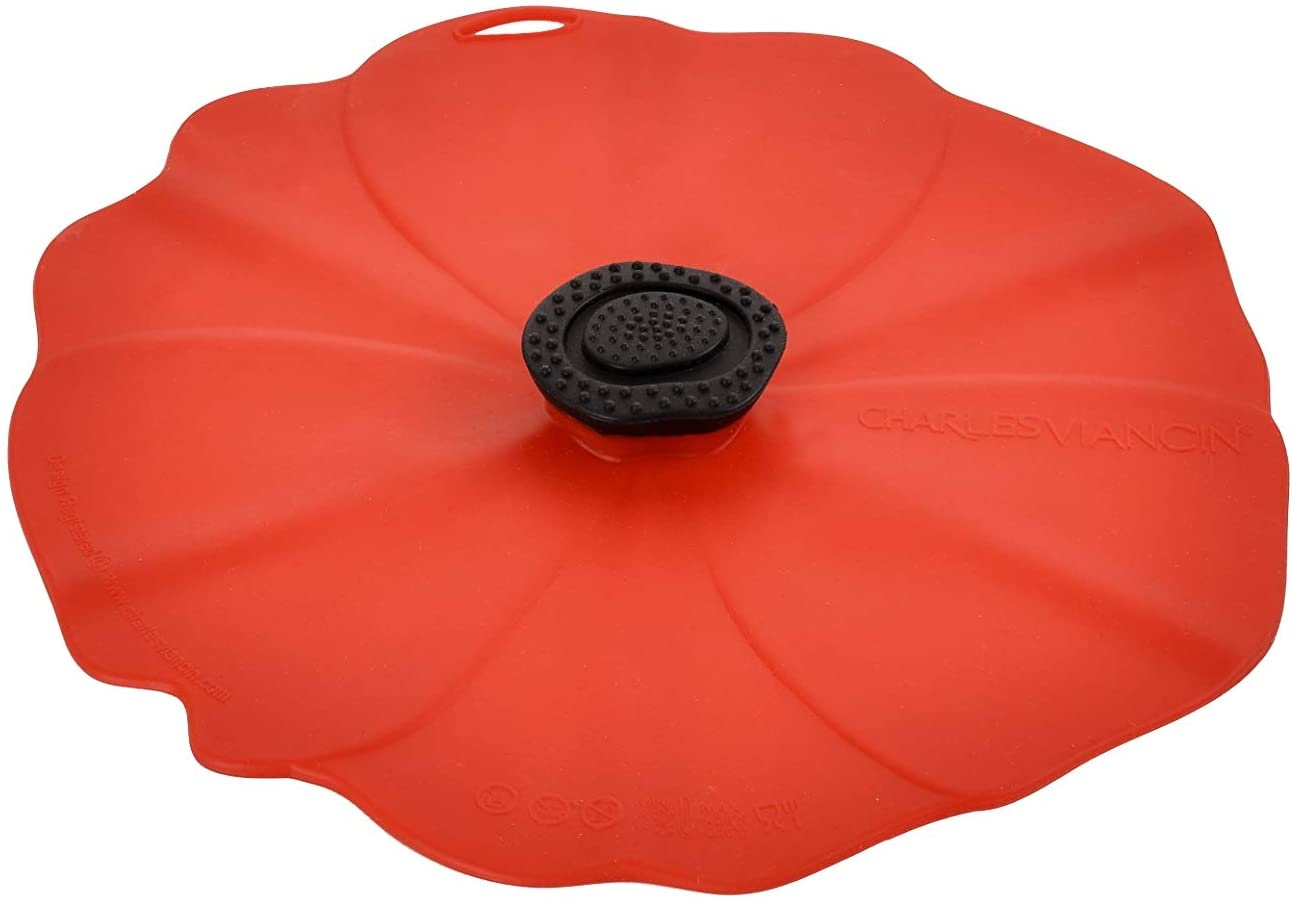 "CV POPPY/RED 8"" LID-1"