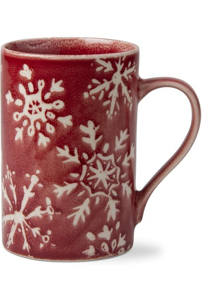 TAG G10048 RED SNOWFLAKE MUG