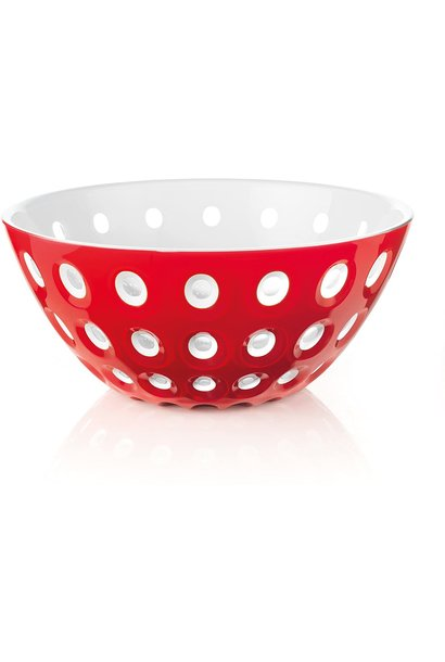 "GUZ 9.75"" RED/WHT BOWL"