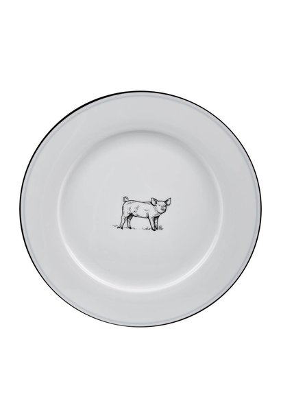OMNI DINNER PLATE PIG