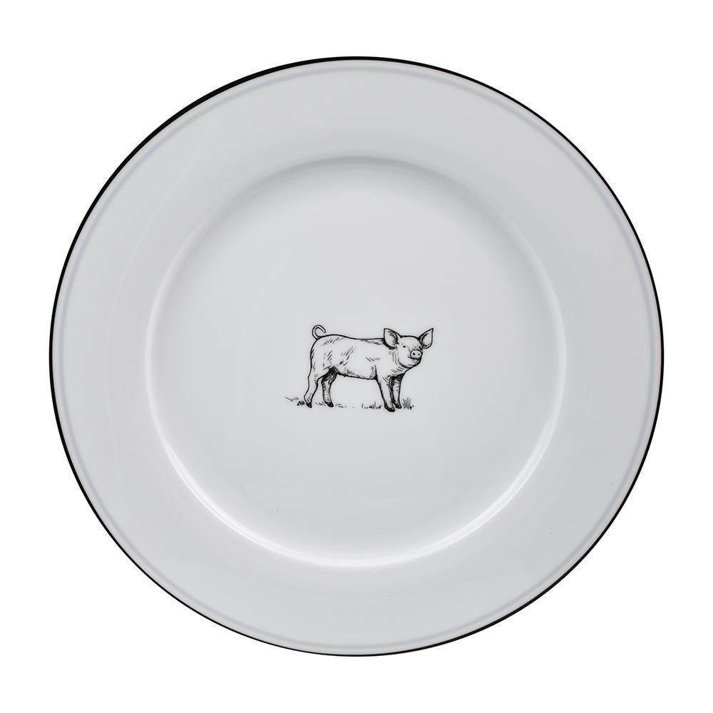 OMNI DINNER PLATE PIG-1