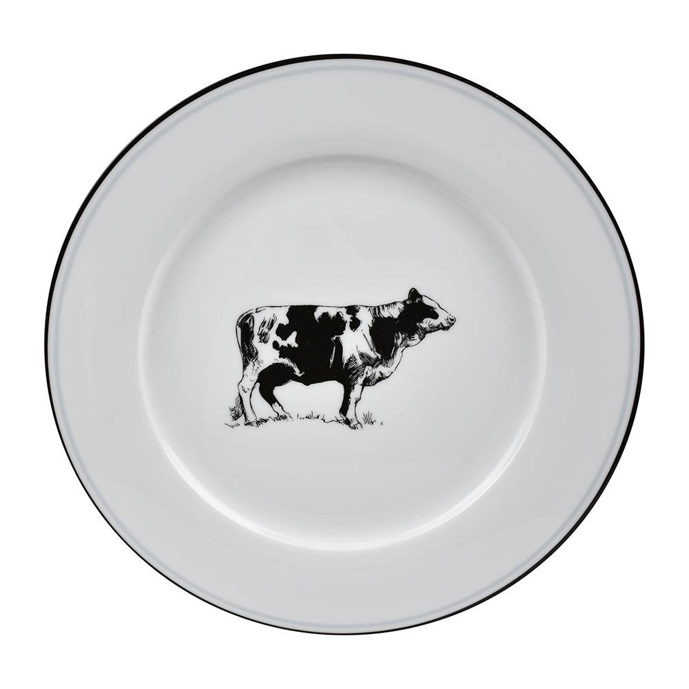 OMNI DINNER PLATE COW-1