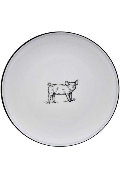 OMNI SALAD PLATE PIG