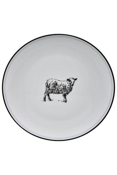 OMNI SALAD PLATE SHEEP