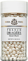 INDIA TREE OYSTER PEARLS FRENCH DRAGEES  3.5 OZ-1