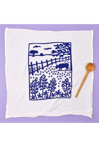KEI AND MOLLY BLUEBONNET TOWEL IN NAVY