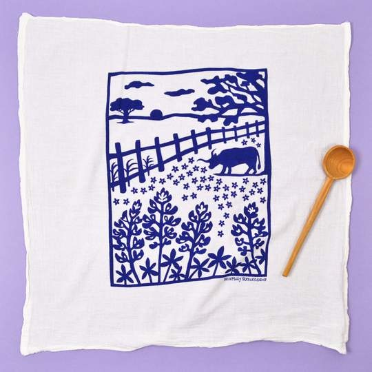 KEI AND MOLLY BLUEBONNET TOWEL IN NAVY-1