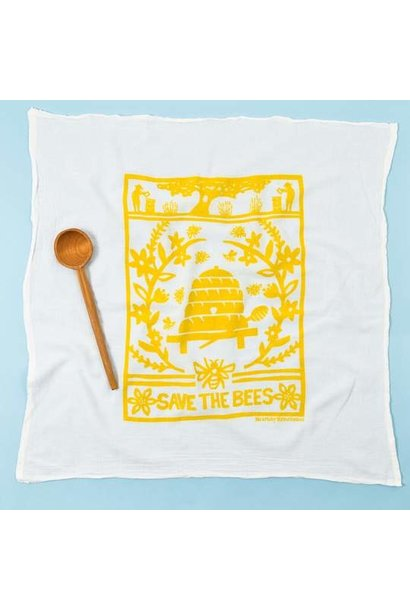 KEI AND MOLLY BEE TOWEL IN YELLOW