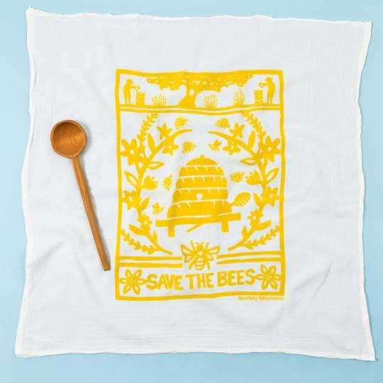 KEI AND MOLLY BEE TOWEL IN YELLOW-1