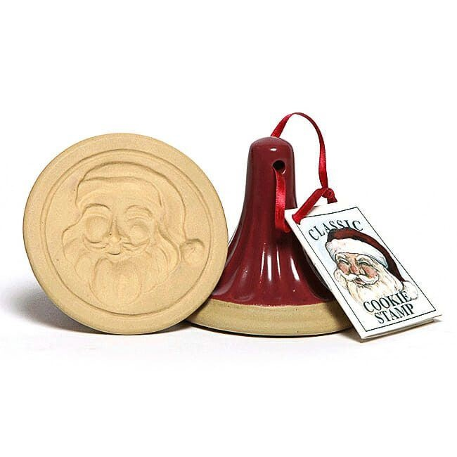 EMERSON CREEK POTTERY COOKIE STAMP SANTA'S FACE-1