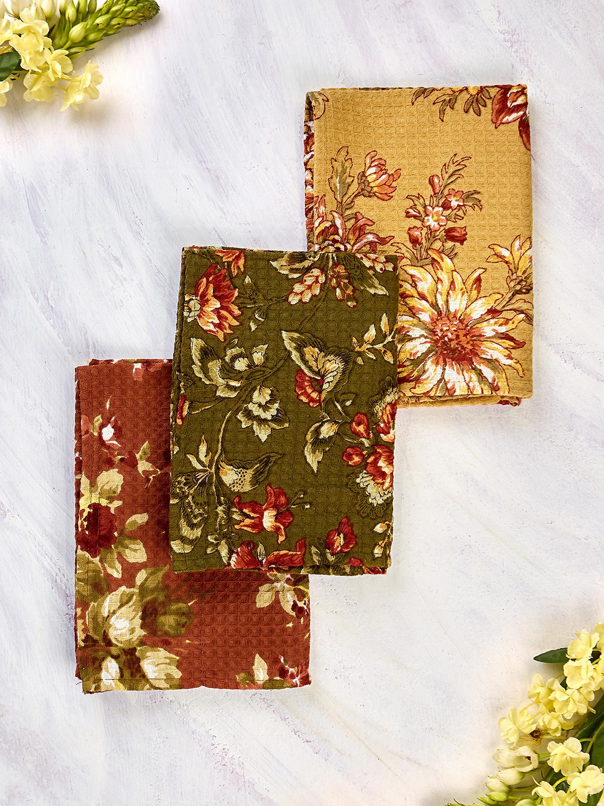 APRIL CORNELL BOUNTIFUL HARVEST TEA TOWELS - SET OF 3-1