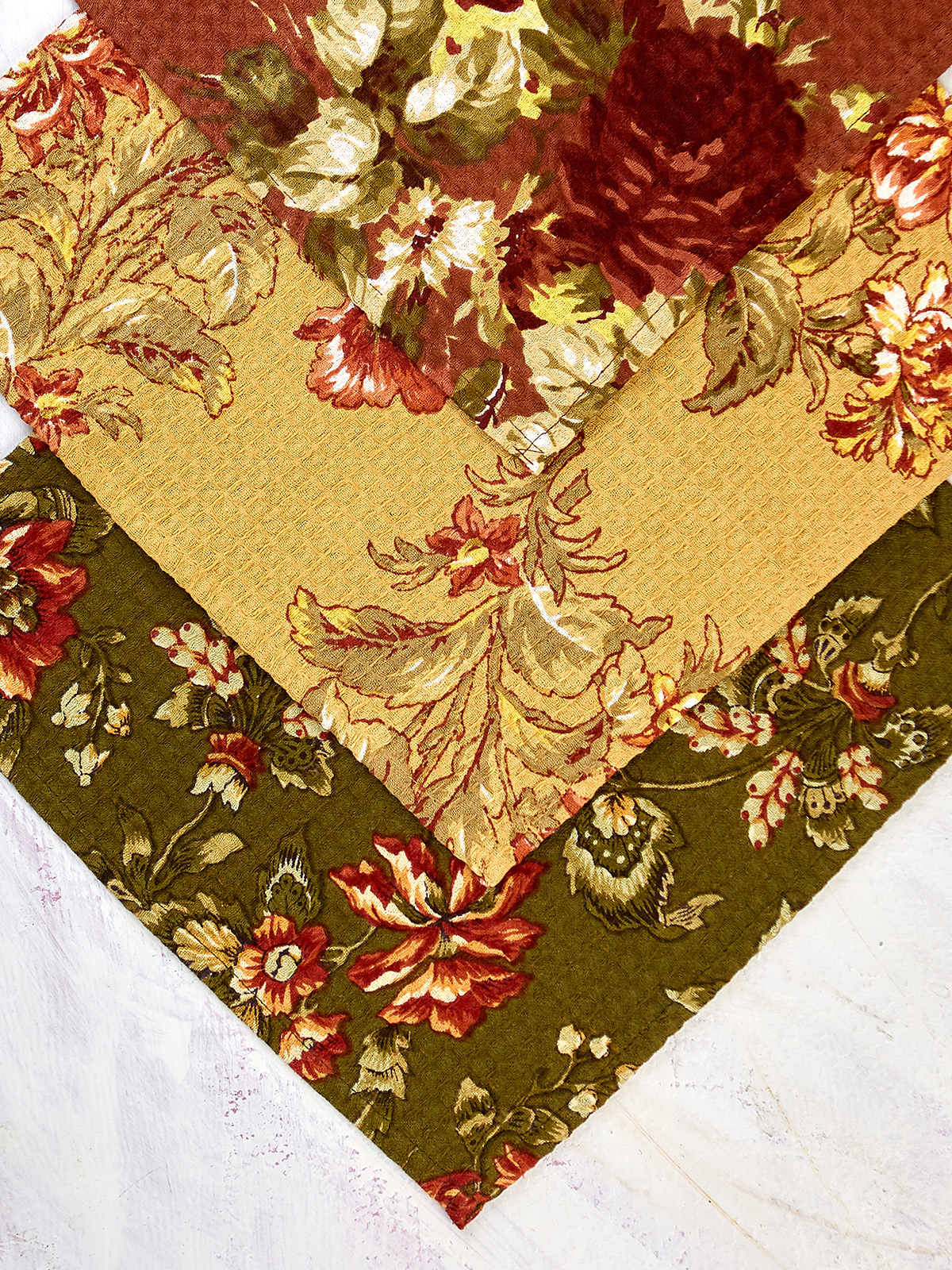 APRIL CORNELL BOUNTIFUL HARVEST TEA TOWELS - SET OF 3-2