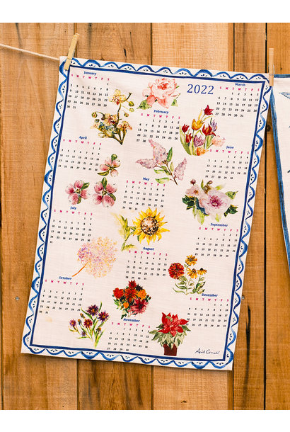 APRIL CORNELL A YEAR IN FLOWERS TEA TOWEL