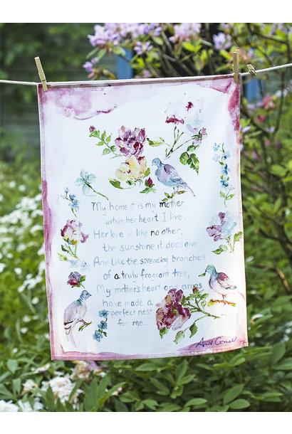 APRIL CORNELL MOTHER'S POEM TEA TOWEL