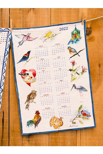 APRIL CORNELL A YEAR IN BIRDS TEA TOWEL