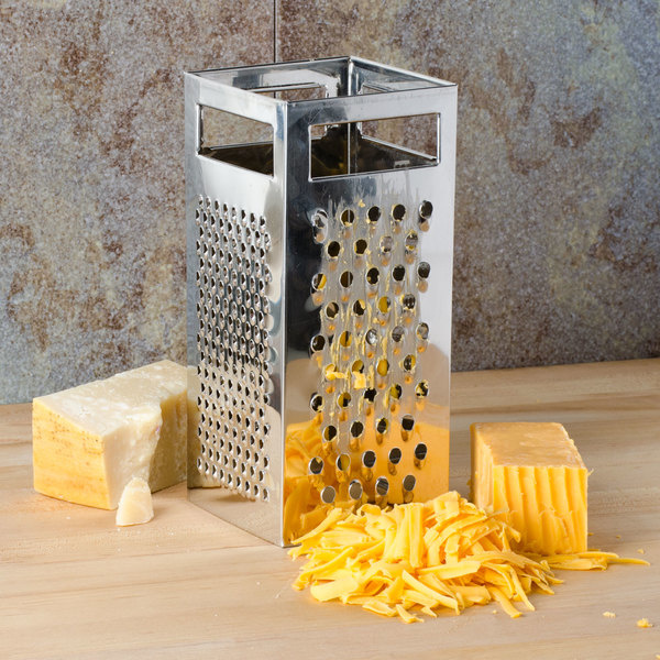 TABLECRAFT STAINLESS STEEL 4 SIDED BOX GRATER-1