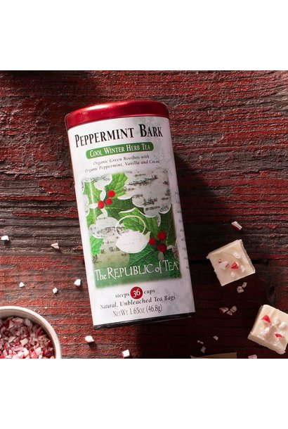 REPUBLIC OF TEA PEPPERMINT BARK TEA BAGS