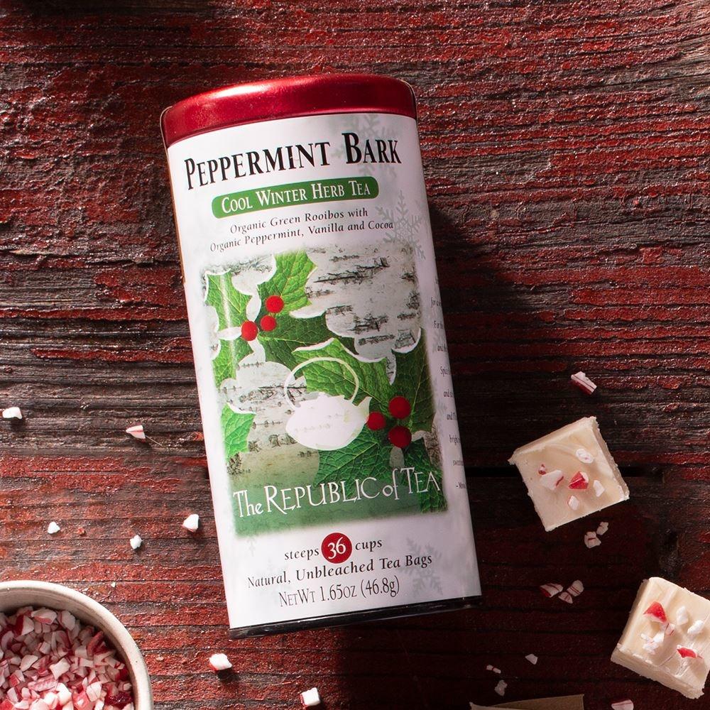 REPUBLIC OF TEA PEPPERMINT BARK TEA BAGS-1