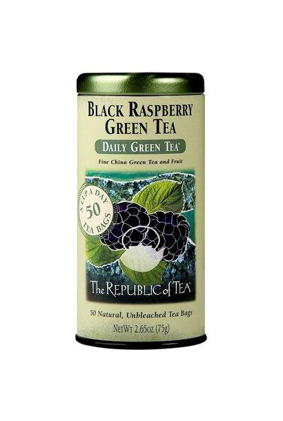REPUBLIC OF TEA BLACK RASPBERRY GREEN TEA