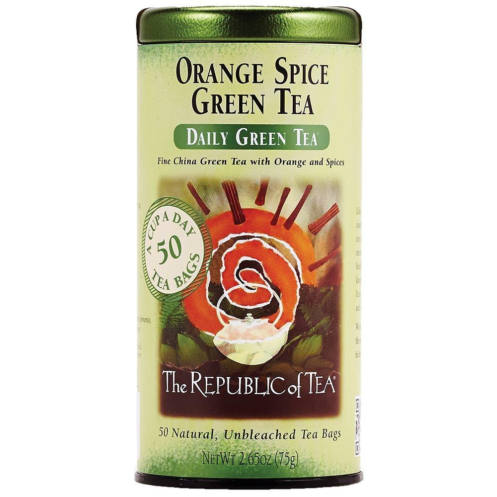 REPUBLIC OF TEA ORANGE SPICE GREEN TEA-1