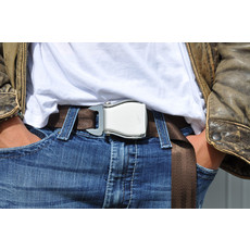 SkyBelt w/buckle Big Bear- Dark Brown