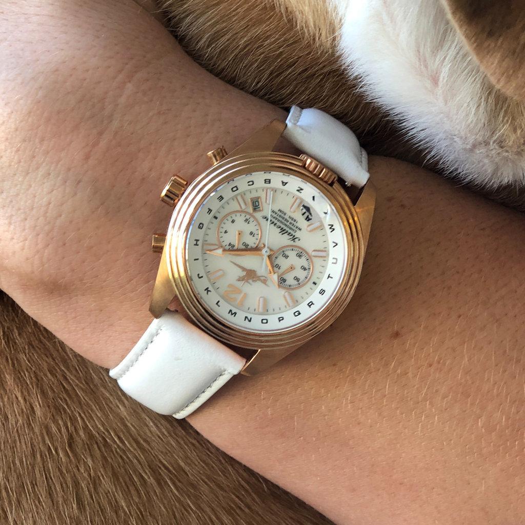 Aviator Watch Katherine in Rose Sun
