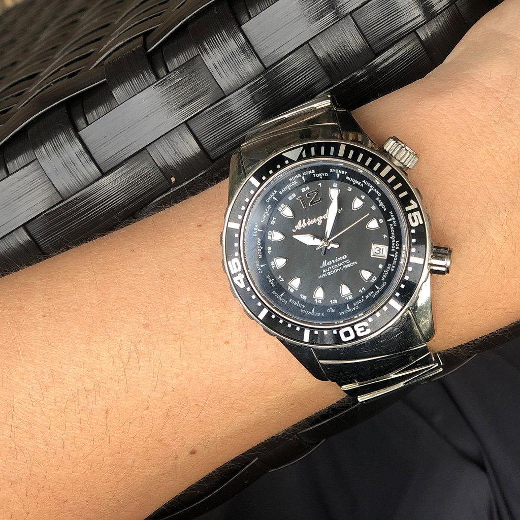 Aviator Watch Marina in Balize Black