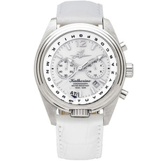 Aviator Watch Katherine in Pearl White