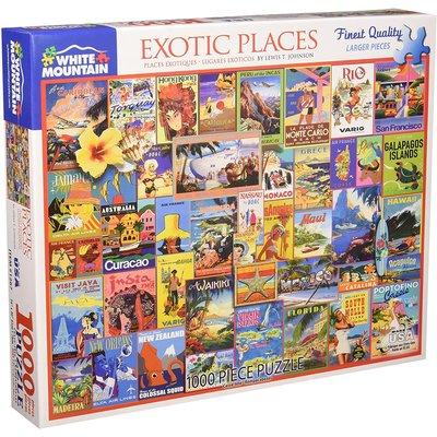Exotic places 1000 Pc puzzle