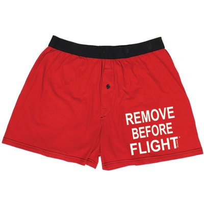 Unisex Remove Before Flight Boxer Shorts