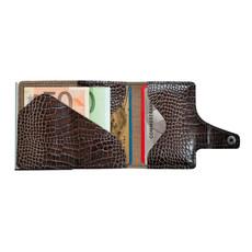 Tru Virtu Click n Slide Leather  Croco Brown