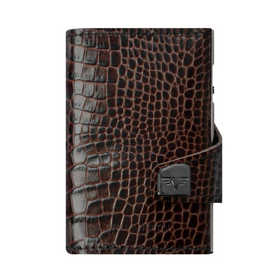 Tru Virtu Click n Slide Leather  Croco Brown