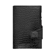 Tru Virtu Click n Slide Leather  Croco Black