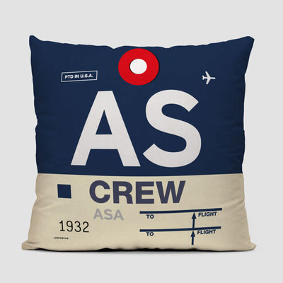 AS Crew Tag Alaska Pillow Cover