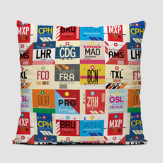 European Airports Pillow Cover