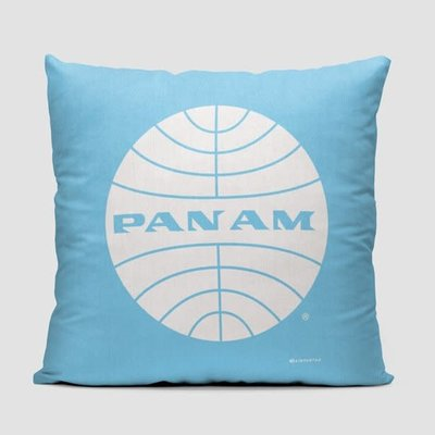 Pan Am Logo Light Blue Pillow Cover