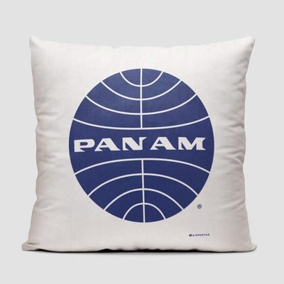 Pan Am Logo White Pillow Cover