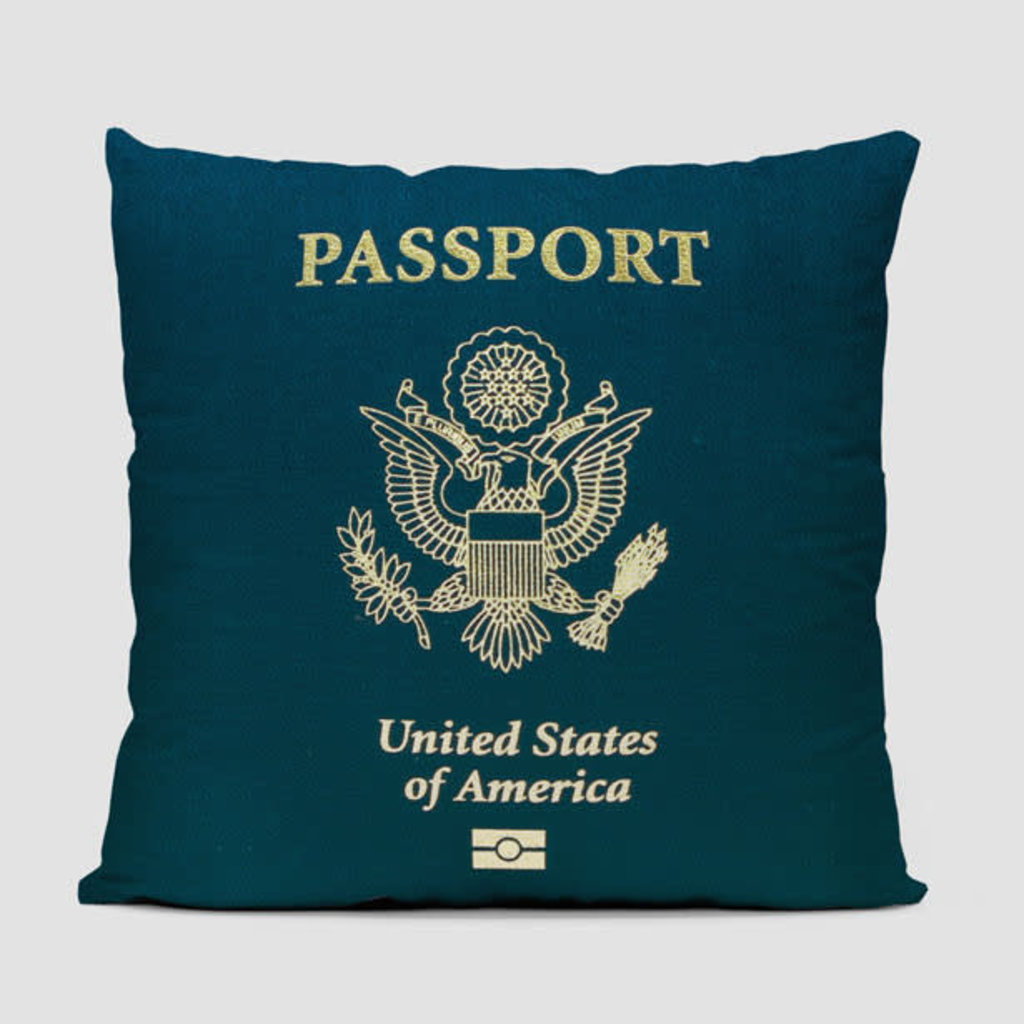 USA Passport Pillow Cover