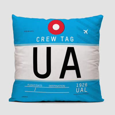 UA Crew Tag United Pillow Cover