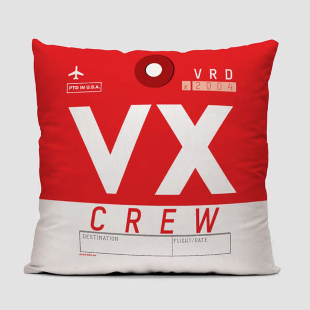 VX Crew Tag Virgin US Pillow Cover