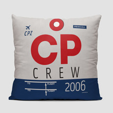 CP Crew Tag Compass Pillow Cover