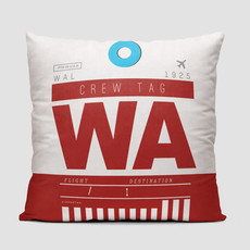 WA Crew Tag Western Pillow Cover