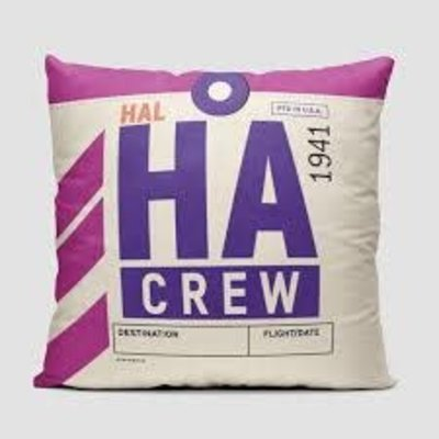 HA Crew Tag Hawaiian Pillow Cover