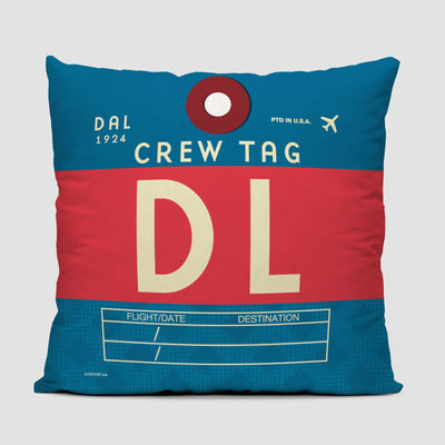 DL Crew Tag Delta Pillow Cover